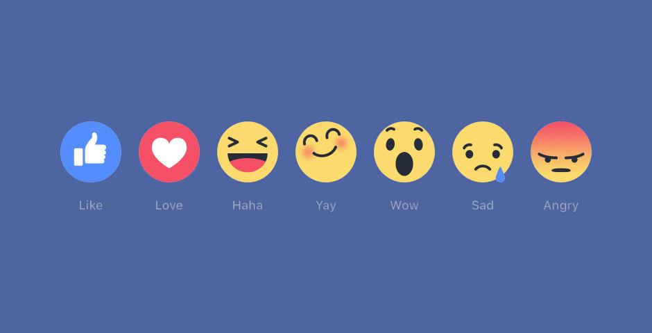 As novas reações do Facebook